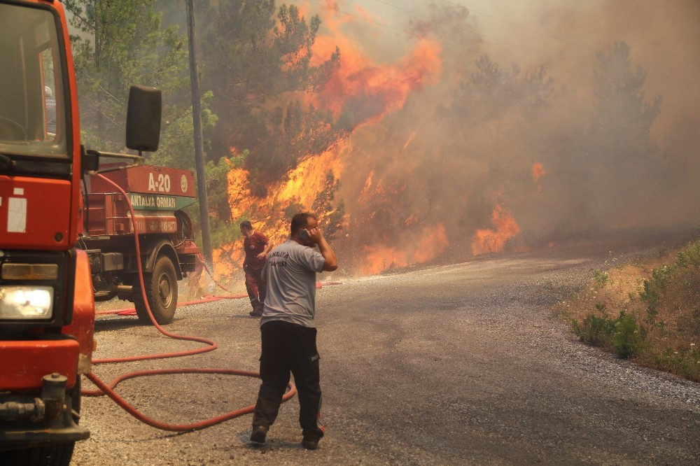 Alanya'da çıkan orman yangınında 5 ev kül oldu