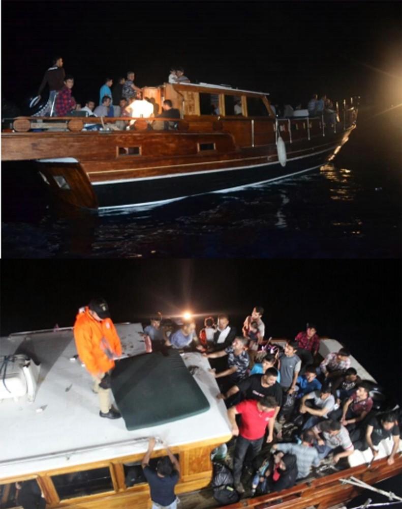 Antalya'da 100 Suriyeli kaçak göçmen yakalandı