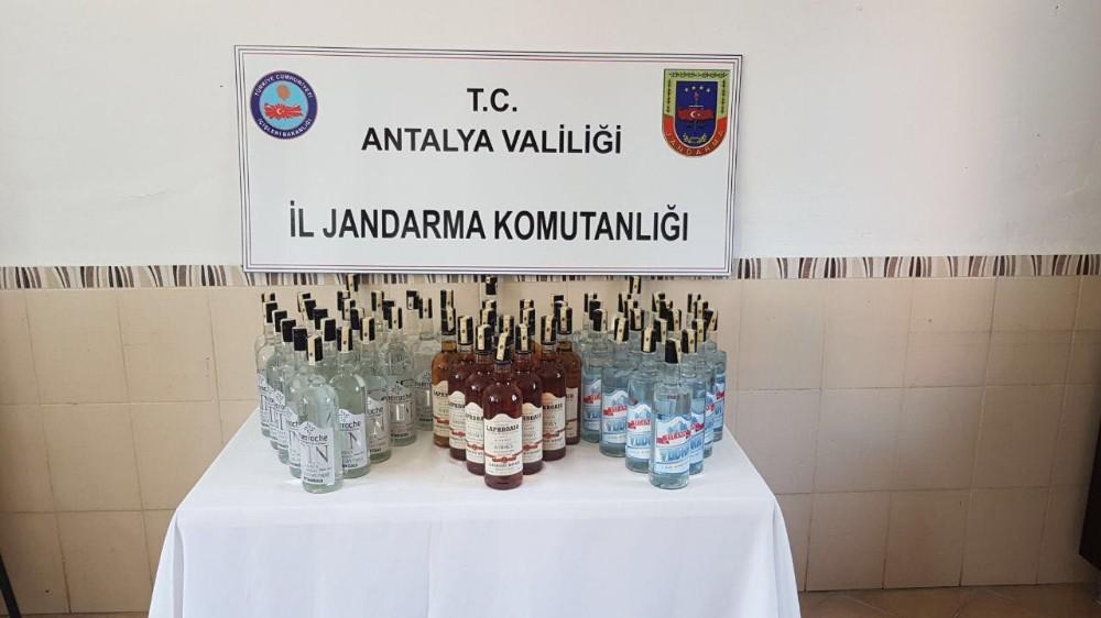 Manavgat'da kaçak içki operasyonu