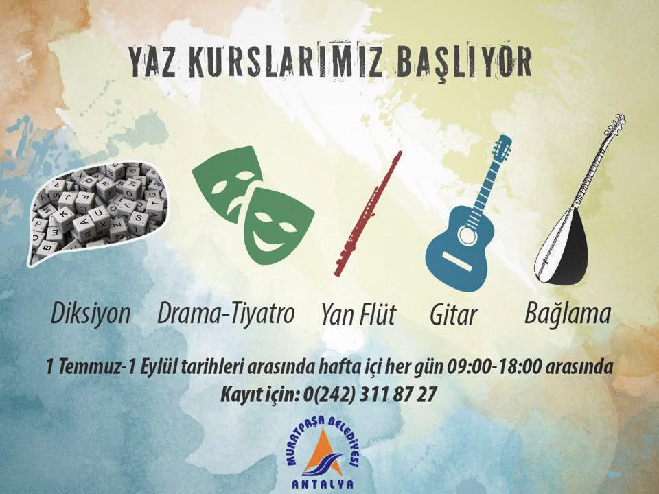Muratpaşa'da gençler için sanat dolu bir yaz