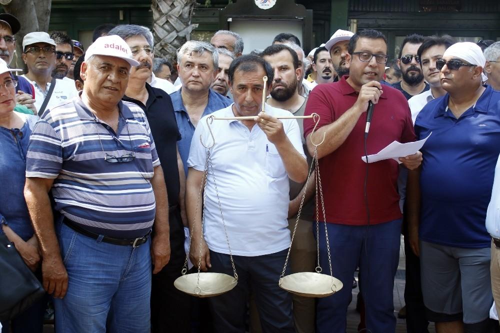 Antalya'dan adalet yürüyüşüne destek