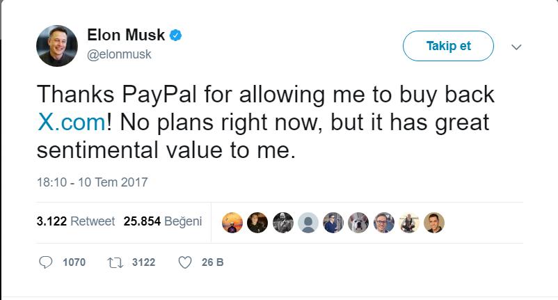 Elon Musk x domaini geri aldı