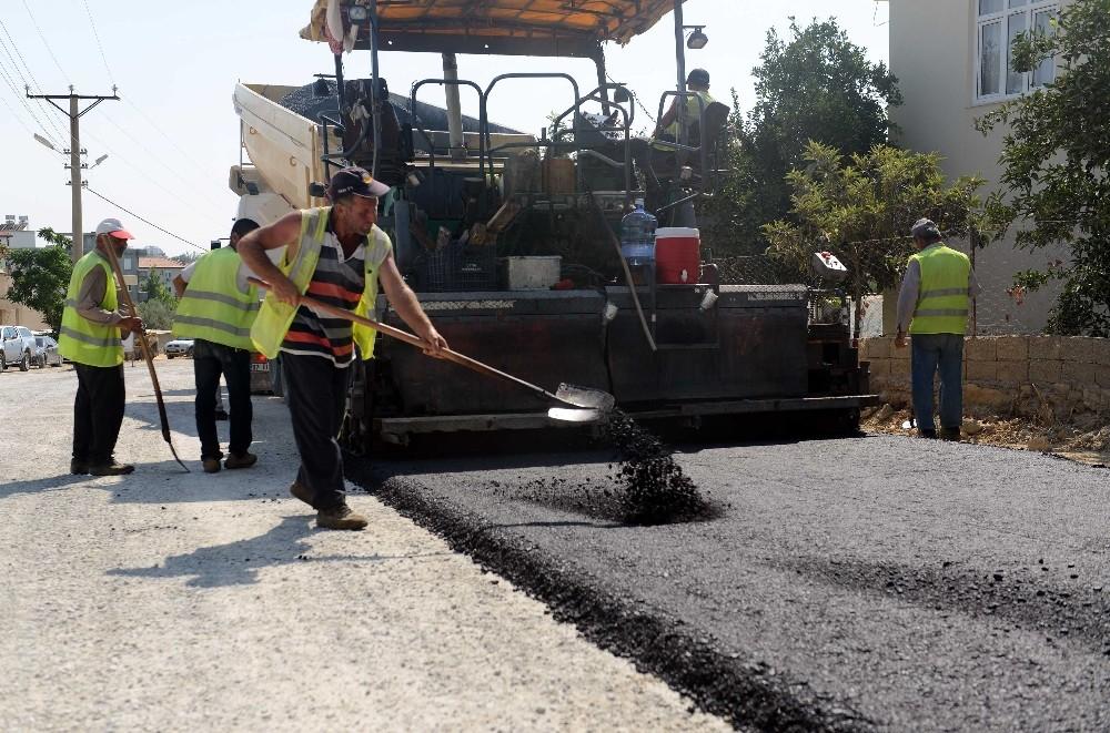 Manavgat Ulukapı'da asfalt çalışması