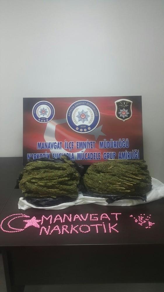 Manavgat'ta 10 kilogram esrar ele geçirildi