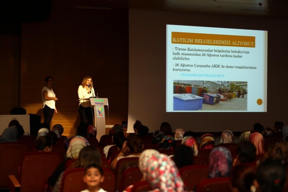 Toros Kadınlarına katılım sertifikası