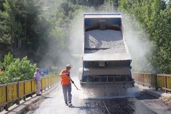 Alanya'da içme suyu ve asfalt çalışması