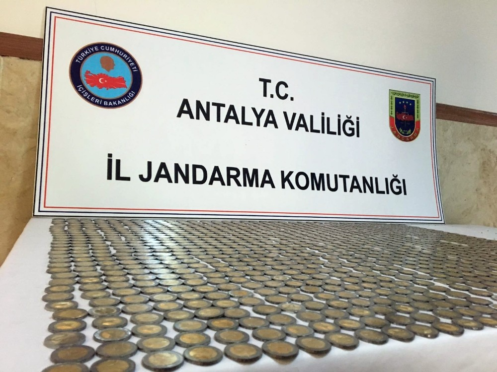 Antalya bin 30 adet sahte 2 euro ele geçirildi