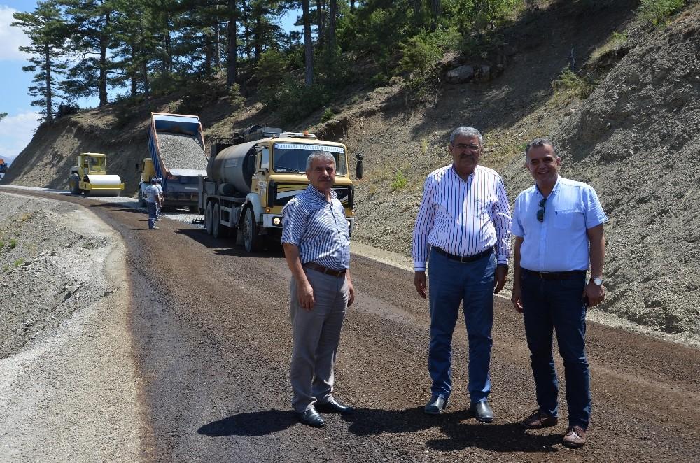 Büyükşehirin yayla yoları asfaltlama çalışmaları