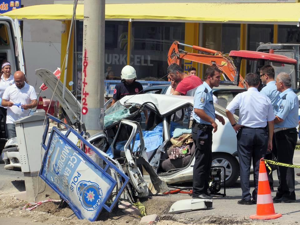 Finike'de trafik kazası: 1 ölü