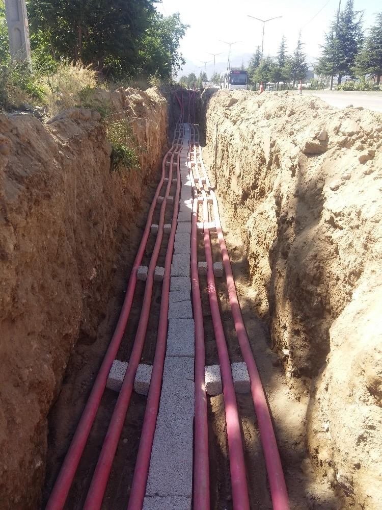 Isparta şehir merkezindeki enerji nakil hatları 'yeraltına' alınıyor