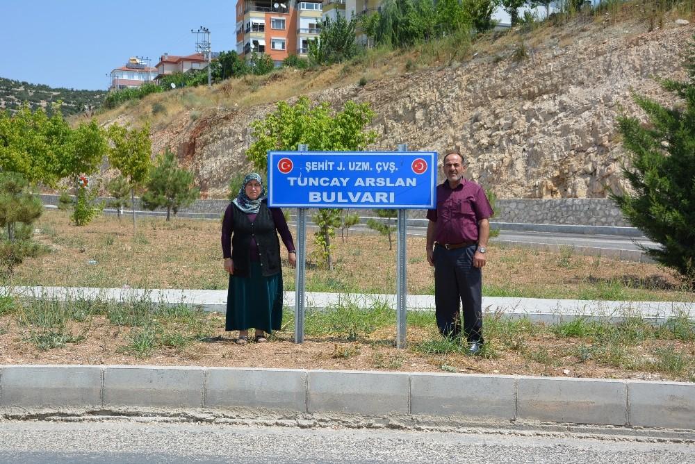 Şehit Tuncay Arslan'ın adı yolda yaşatılıyor