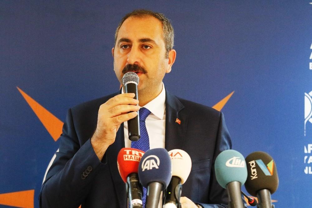 """Adalet Bakanı Gül: """"Bu topraklarda asla bir senaryoya, asla bir oldu bittiye izin veremeyiz"""
