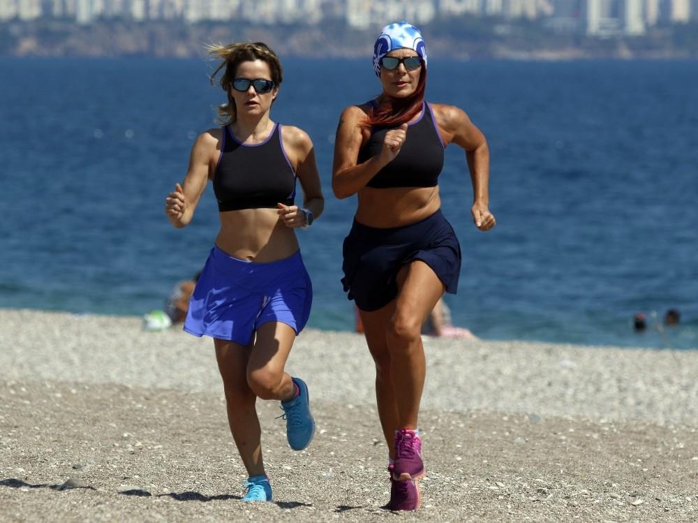 Analı-kızlı bel fıtığından triatlon yarışına