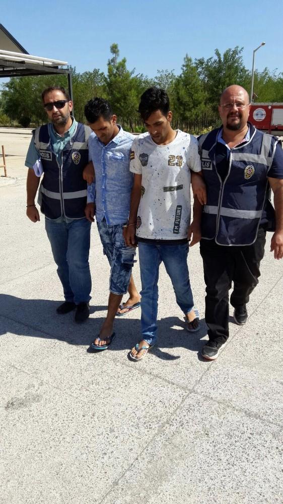Antalya'da 5 ayrı marketin hırsızlık zanlıları yakalandı