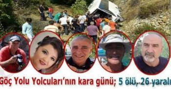Antalya'da 5 kişinin hayatını kaybettiği tur midibüsü kazası