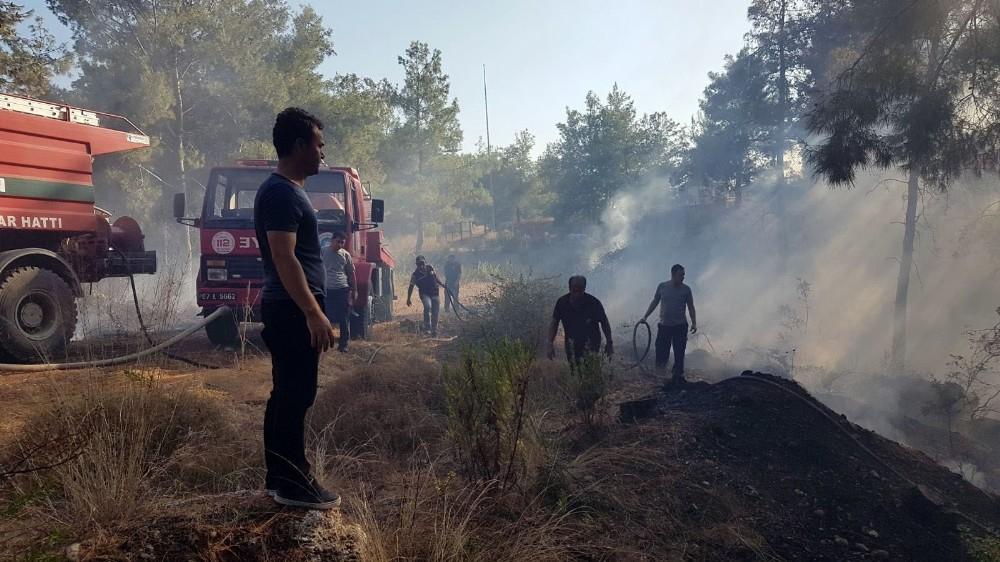 Antalya'da çıkan orman yangını büyümeden söndürüldü