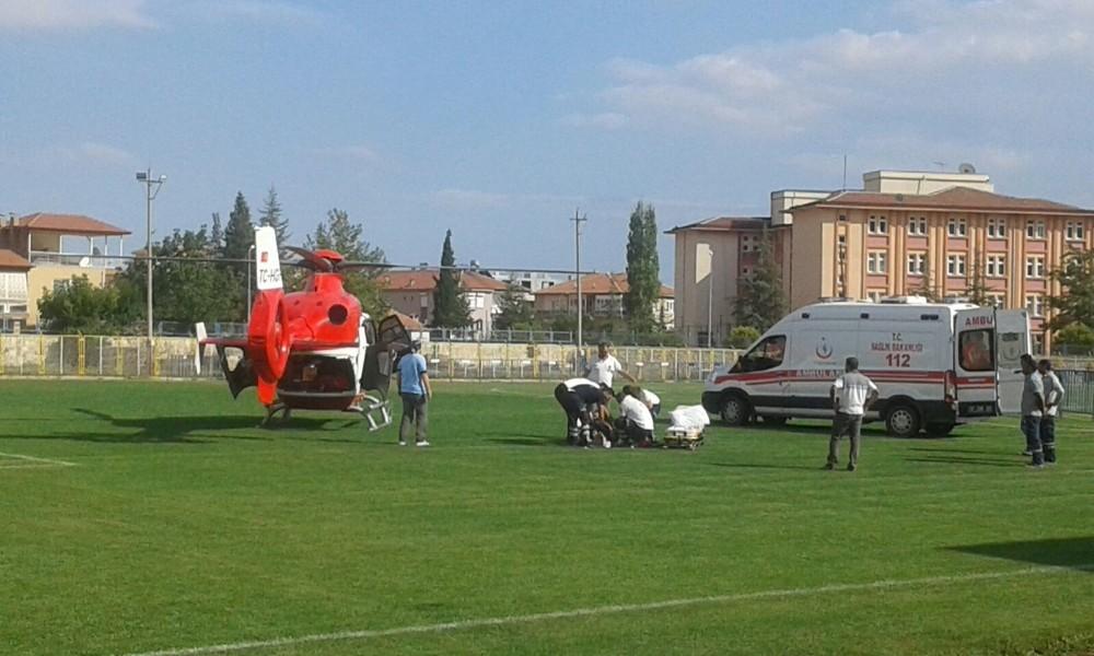 Hava ambulansı, Mükerrem Amca için havalandı