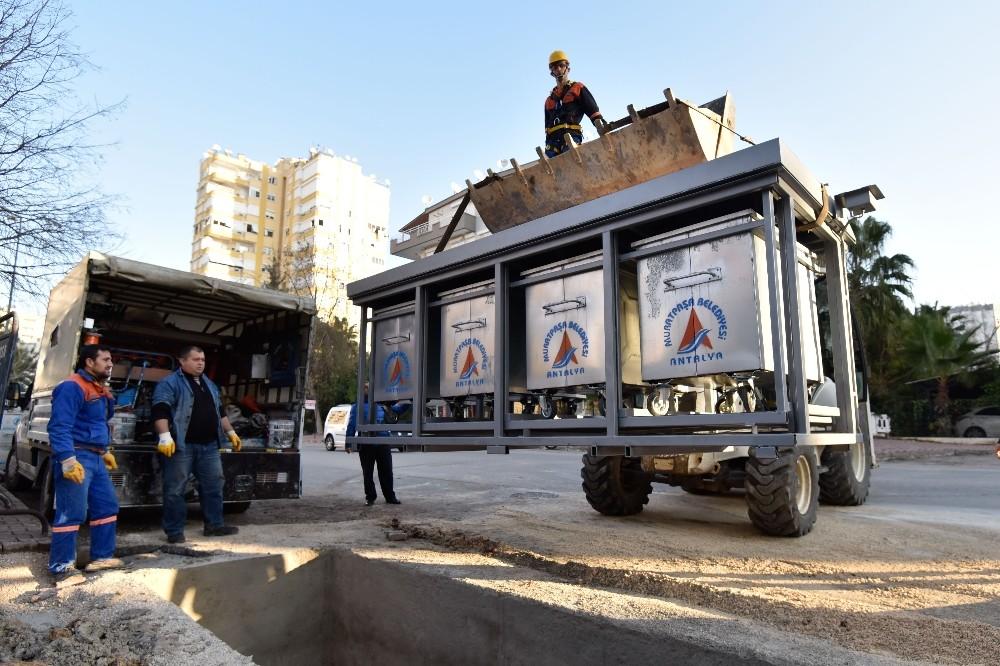 Muratpaşa'da 664 konteyner yeraltına indi