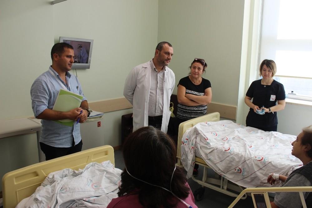 AEAH yönetiminden hastalara ziyaret