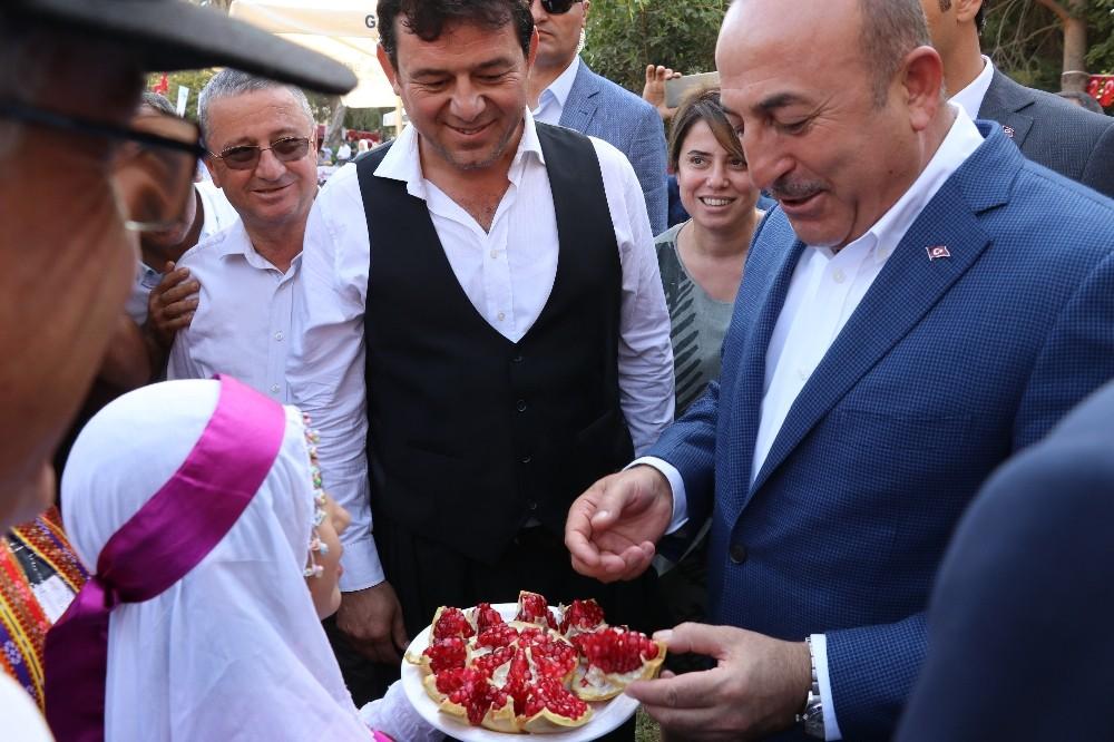 Bakan Çavuşoğlu: Çekirdeksiz nar emsalsiz bir ürün