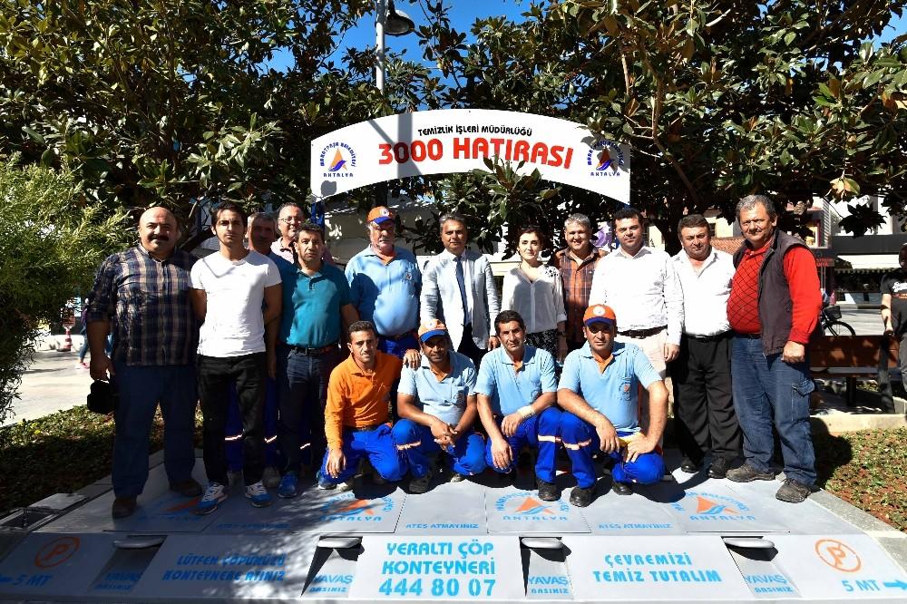Muratpaşa'da 3 bininci konteyner yeraltında
