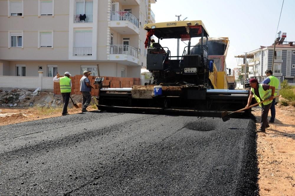 Şelale'ye 4 bin 500 ton asfalt