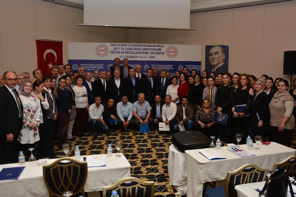 AESOB'tan Oda Genel Sekreterleri Eğitim ve Değerlendirme Toplantısı