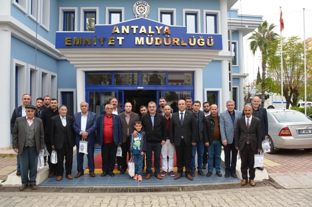 Şehit yakınları Antalya Emniyeti'nde