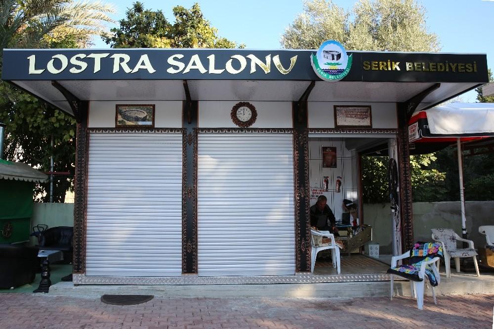 Serik'te ayakkabı boyacıları için Lostra Salonu açıldı