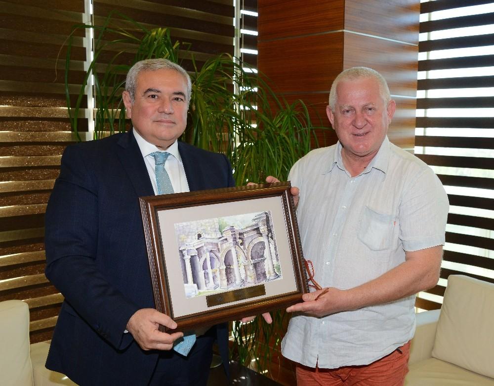 Varşova Ticaret Odası Başkanı Marek Traczyk, ATSO'da
