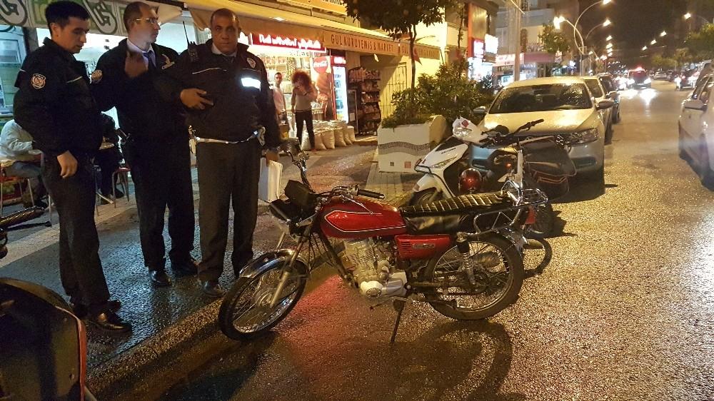 Akrobasi yaptığı motosiklet çalıntı çıktı