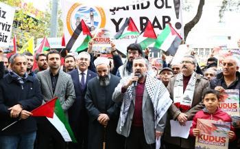 Antalya'da ABD'nin Kudüs kararı protesto edildi