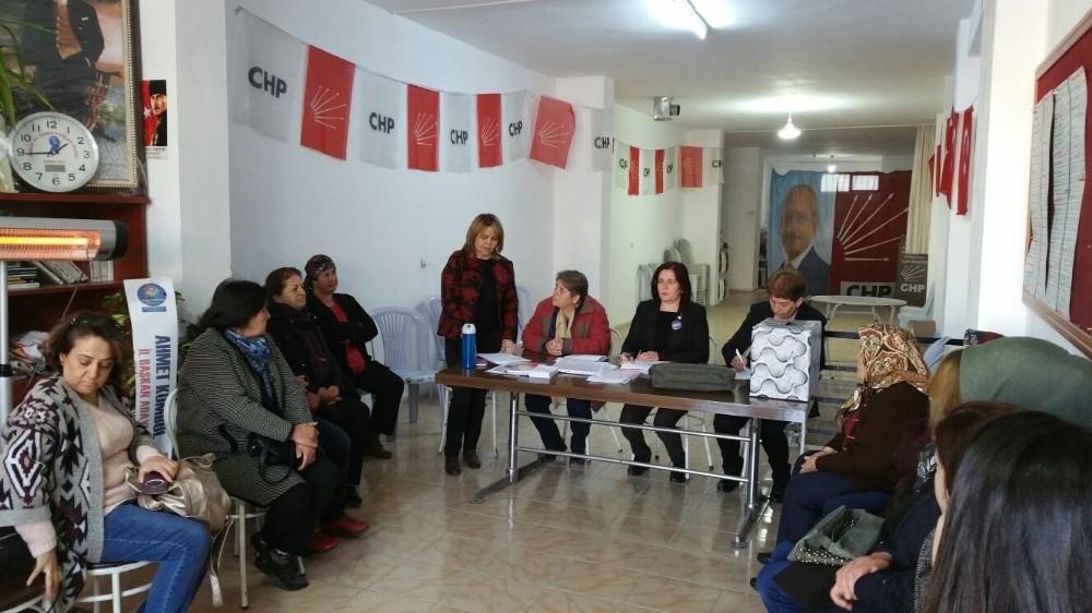 CHP Korkuteli Kadın Kolları Başkanı Demir, güven tazeledi