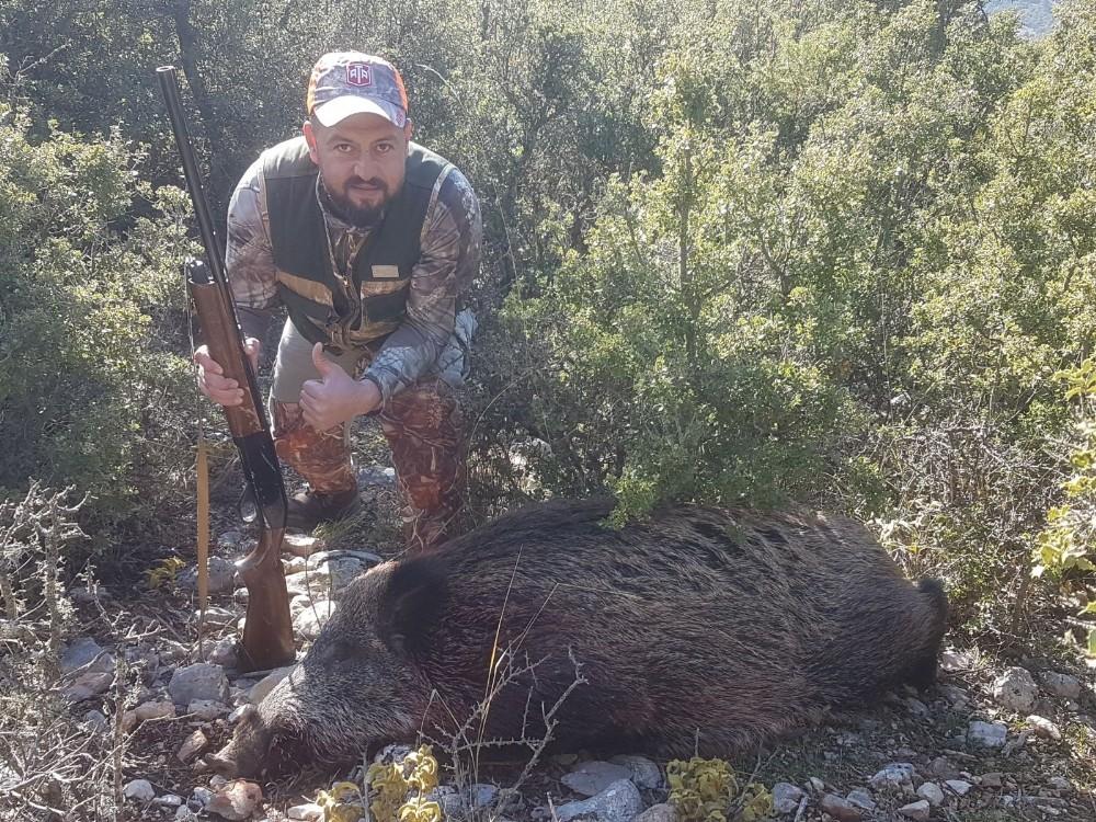 Korkuteli Yazır Mahallesinde domuz avı