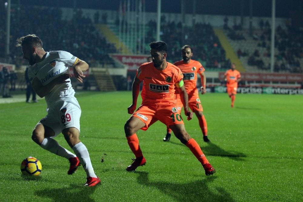 Süper Lig: Alanyaspor: 0 – Kayserispor: 1 (İlk yarı)