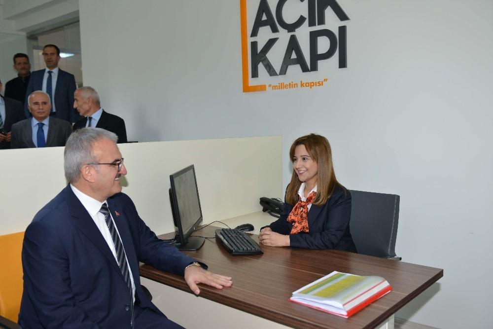 """Antalya'da """"Açık Kapı Milletin Kapısı"""" Projesi başladı"""