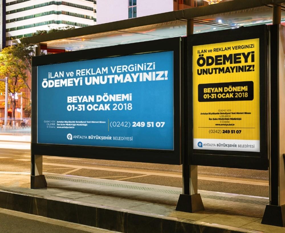 Büyükşehir'den ilan ve reklam vergi borcu ödemesi uyarısı