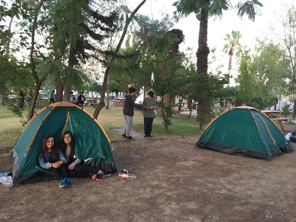 Çocuklar sömestr tatilinde doğa kampına giriyor