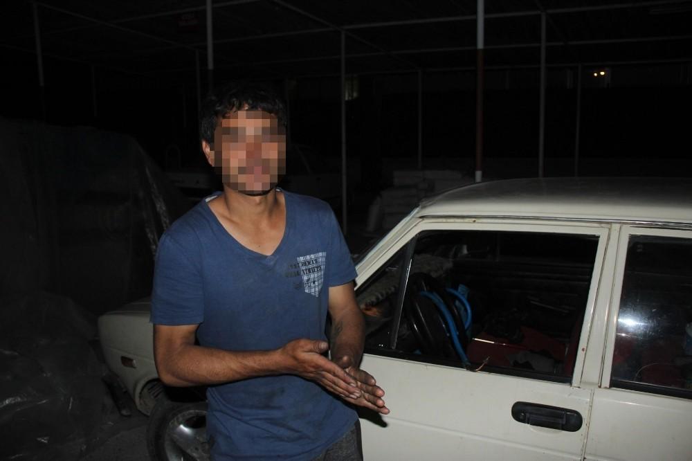 Manavgatlı Gazman oto hırsızlığından yakalandı