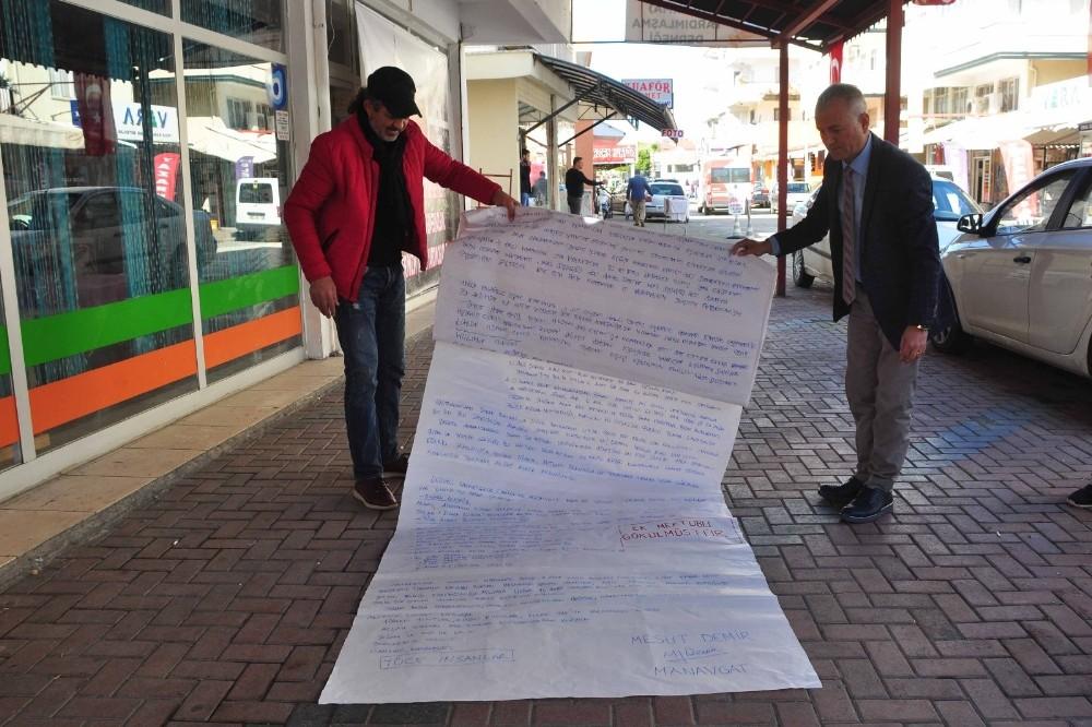 Afrin'deki Mehmetçik'e 15 metrelik moral mektubu
