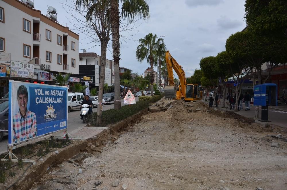Alanya İstiklal Caddesi yenileniyor