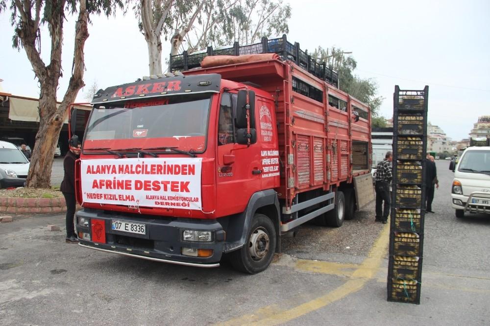 Alanya'dan Afrin'deki Mehmetçiklere 1 kamyon muz