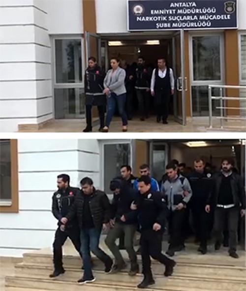 Antalya merkezli uyuşturucu operasyonu: 13 tutuklama