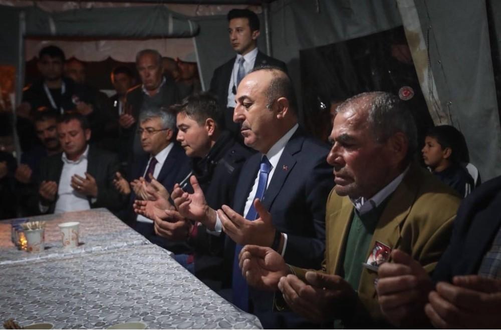 Dışişleri Bakanı Çavuşoğlu, şehit evini ziyaret etti