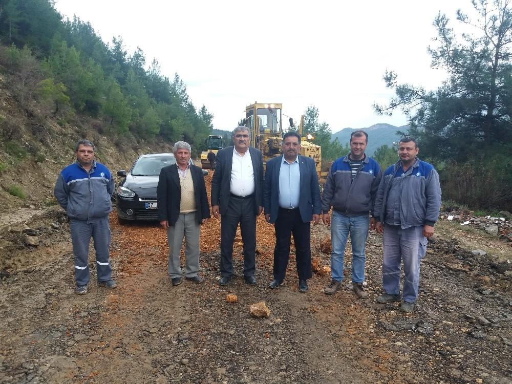 Manavgat Yaylaalan yolu asfalta hazırlanıyor