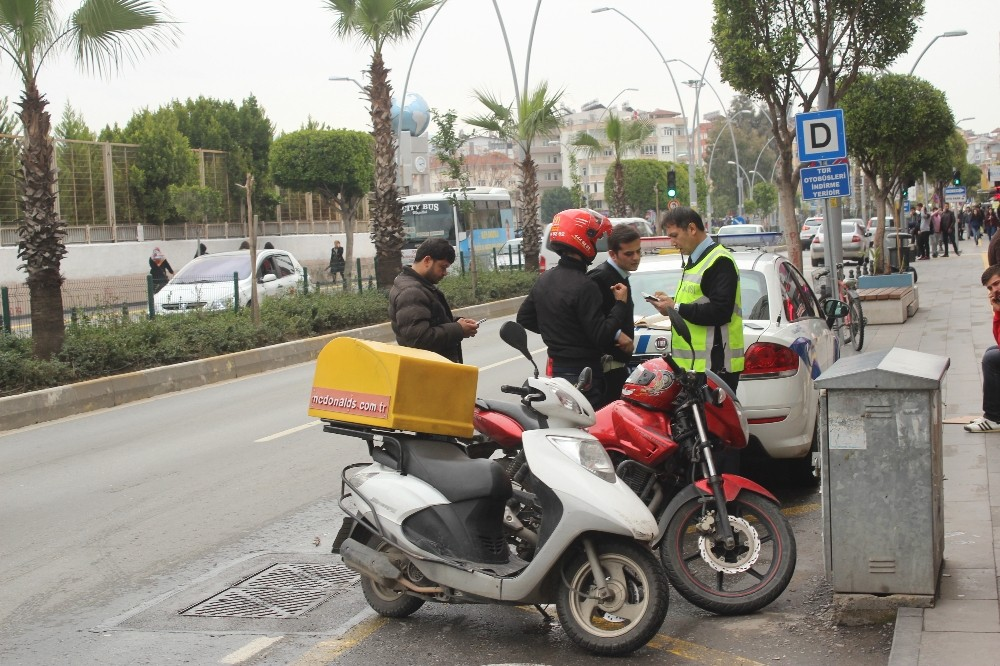 Manavgat'ta motosiklet denetimi