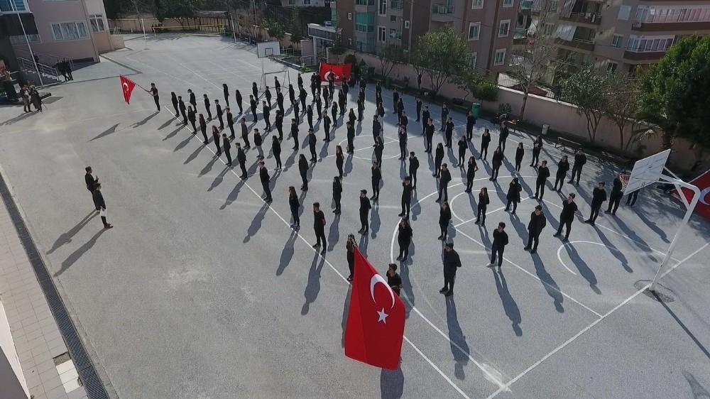 Öğrencilerden Afrin'e, komando marşlı destek