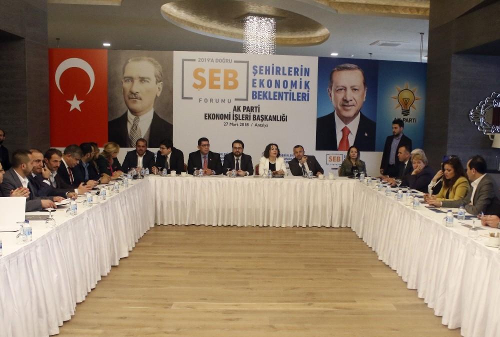 2019'a Doğru Şehirlerin Ekonomik Beklentileri Formu Antalya'da düzenlendi