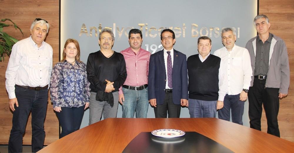 ATB Başkanı Çandır, TSYD yönetimini ağırladı