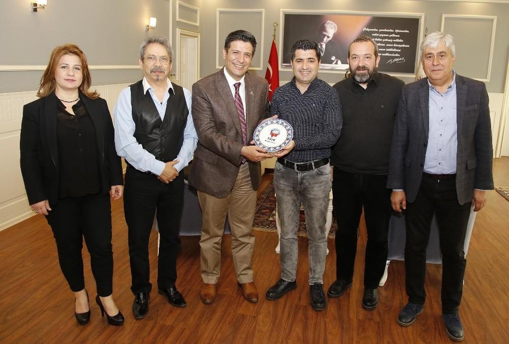 Başkan Genç, TSYD Antalya Şubesi'nin yeni yönetimini ağırladı